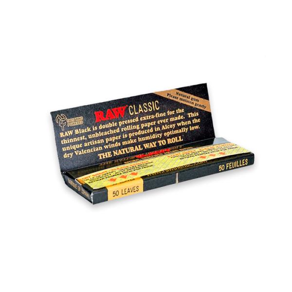 Papel de fumar Raw Black 1 1-4 Classic
