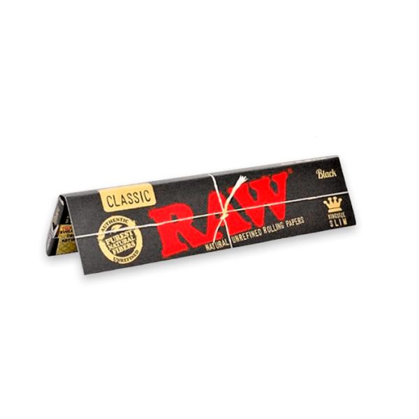 Papel de fumar Raw Black King Size Slim Classic