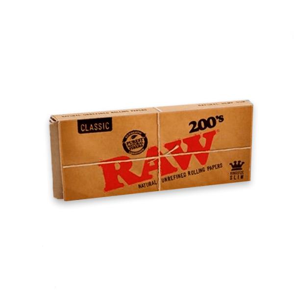 papel de fumar raw ks slim 200 hojas classic1