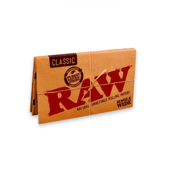 papel de fumar raw single wide double classic1