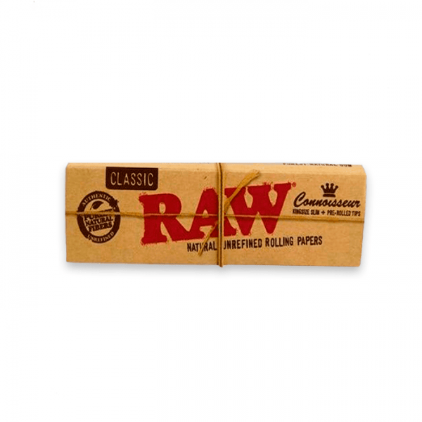 papel raw classic ks slim connoisseur pre-rolled