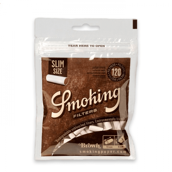filtros biodegradables smoking slim 120 uds