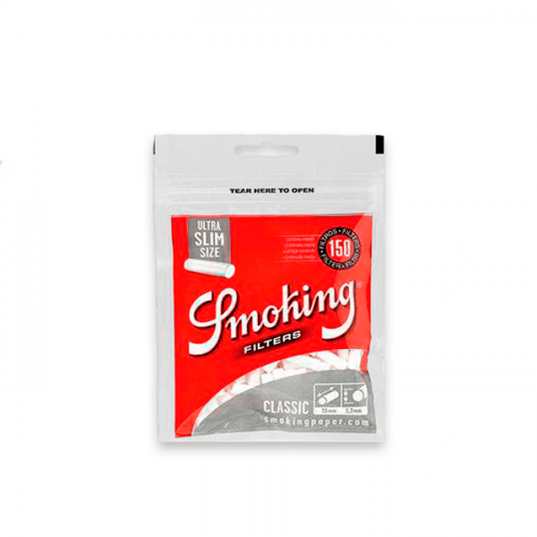 filtros smoking ultra slim 150 uds