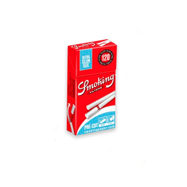 filtros smoking ultra slim pre-cortados 120 uds