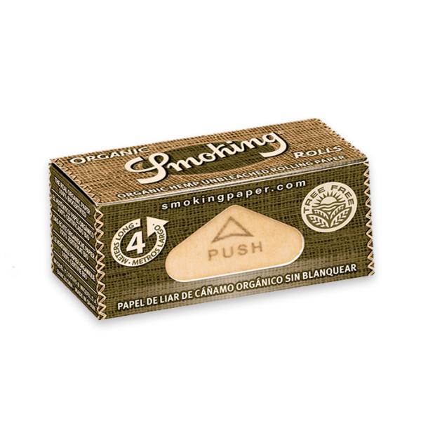 rollo de papel de liar smoking ks organic 4m