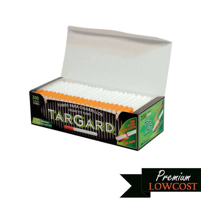 tubos targard filtro extralargo - 200 uds