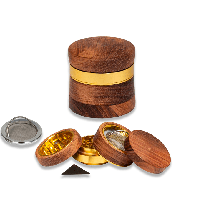 grinder kañamero de madera clara foto
