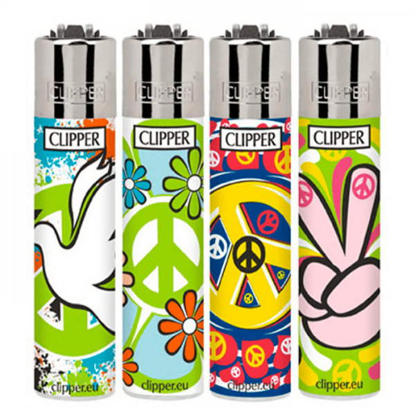 Encendedor Clipper hippie colors