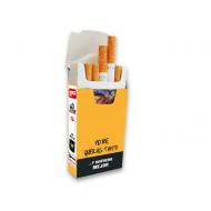cajetilla de cartón para cigarrillos 100 uds frase