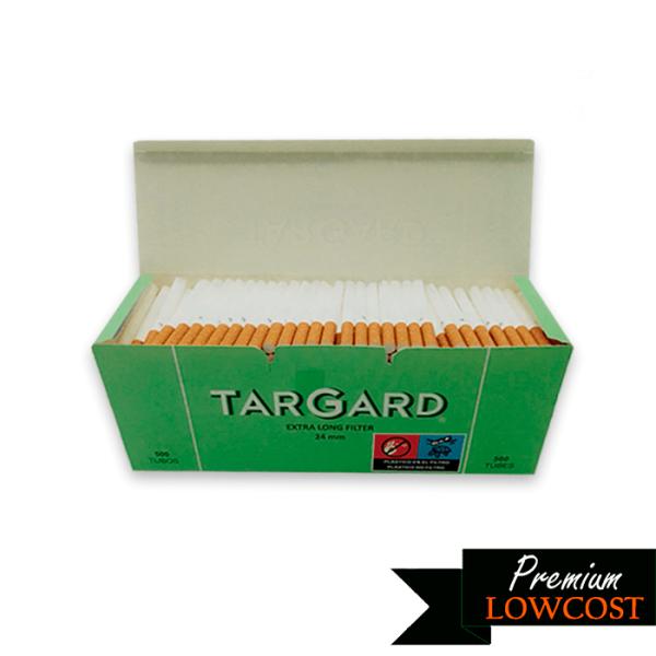 Tubos filtro extralargo 500 uds Targard